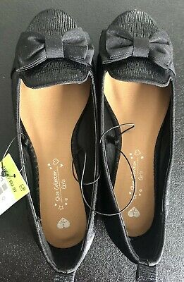 Size 4 Black Party Shoes New With Tags Slip On Ballet Pumps Girl's Shoes