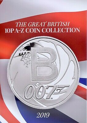 NEW 2019 Great British 10p A - Z Coin Collection Album Collectors Coins Auct3