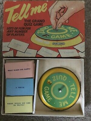 TELL ME ~ The Grand Quiz Vintage Board Game, Metal Spinner Edition By Spears