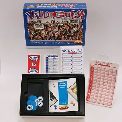 SPEARS GAMES WILD GUESS Board Game Boxed Family Fun Boxed Instructions TH421768