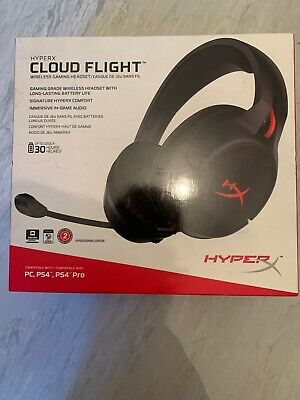HyperX Cloud Flight Wireless/Wired Stereo Gaming Headset, 50mm Drivers, LED Ligh