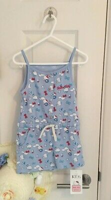 BNWT New MARKS & SPENCER HELLO KITTY Romper Playsuit Blue 2-3 Years