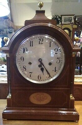 Antique Edwardian bracket clock, Junghans movement, quality piece, West chimes