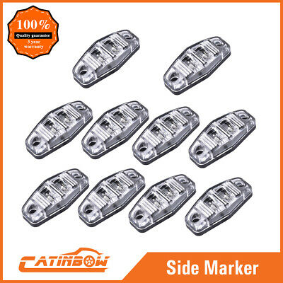 "10X Trailer RV 2.5"" Amber Stop Turn Tail 10 LED Light Clear lens Surface Mount"