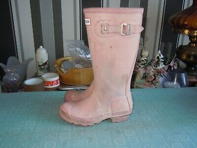 childs hunter wellington boots in pink size uk 13