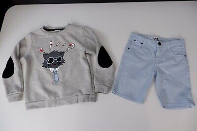 karl lagerfeld Kids Outfit Set Jumper & Shorts Age 8 Years Size 126cm VGC Boys