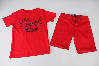 Mayoral Red Outfit Set Shorts & T Shirt Age 7 Years Vgc Boys