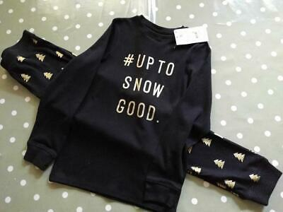 Next Boys Girls 'Up To Snow Good' Matching Family Pyjamas 11 Years BNWT!!