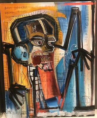 Jean-Michel Basquiat Original Acrylic On Canvas