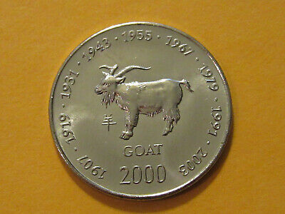 2000 Somalia Millennium Commemorative Coin Ten Dollars C-094