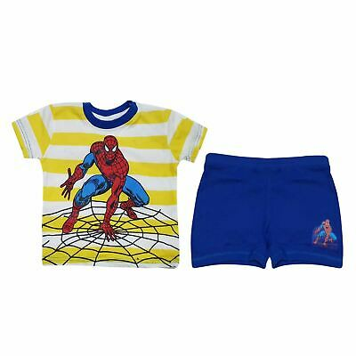 Boys Child Kids Sleepwear NightWear Top & Shorts PJ's Children Super Hero Pyjama