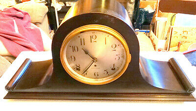 ANTIQUE SETH THOMAS 8 Day TAMBOUR MANTEL CLOCK TIME AND STRIKE SENTINEL #3 MODEL