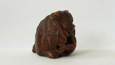 Japanese original boxwood netsuke,  19th century , Meiji Period