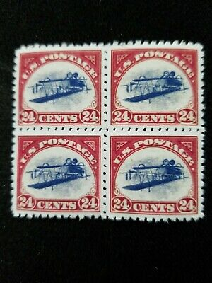 """US Stamps #C3a 1918 """"Inverted Jenny"""" Block Replica Reproduction Copy"""