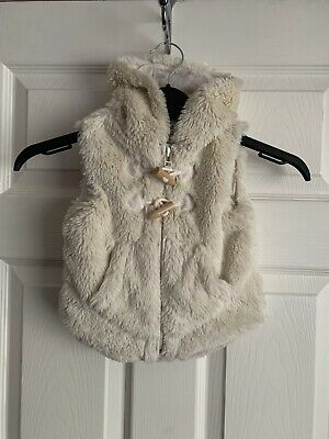 Next Baby Girls Faux Fur Gillet Size 6-9 Months