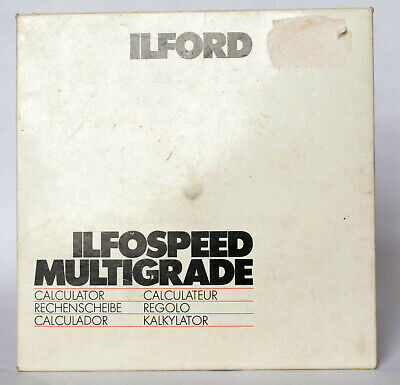 Ilford Multigrade exposure calculator.