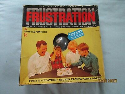 1965 Vintage Frustration Board Game Boxed & Complete Peter Pan Playthings