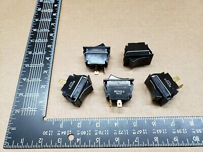 (5 pcs)TIGA51-6S-BL-MBL Carlingswitch, 15A 125vac SPST, Full Sized Rocker Switch