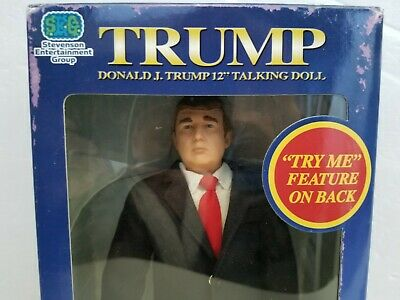 """President DONALD TRUMP TALKING DOLL from 2004 """"The Apprentice"""", NEW IN BOX"""