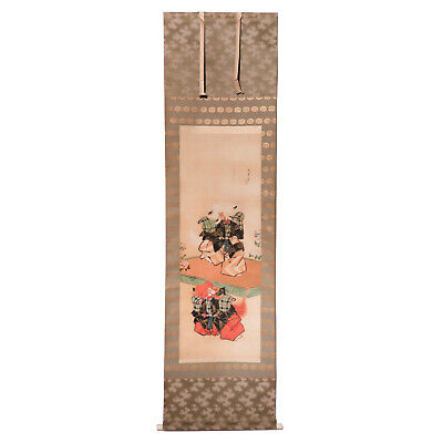 Antique Japanese Kabuki Ningyo Scroll