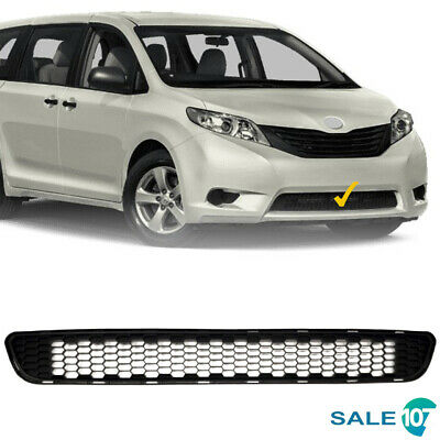For 2011 2017 Toyota Sienna Front Bumper Lower Grille Black Honeycomb Grill