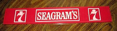 Vintage Seagram's 7 Rubber Bar Rail Drip Cocktail Drink Serving Mat