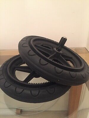 Pair Bugaboo Cameleon 1 or 2 Air Filled Rear Wheels - also fits Frog & Gecko