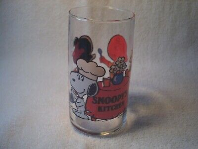 Vintage 1965 Snoopy Woodstock Peanuts Schulz Cheers Glass Tumbler 6 1//2/""