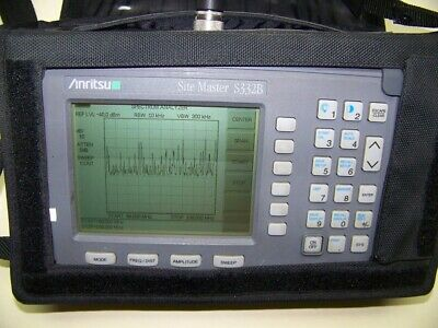 Nice Anritsu S332B Site Master new Screen, smart Battery,Charger and nice case!