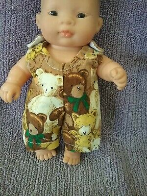21cm miniland and 21cm Berenguer Handmade doll clothes Overalls