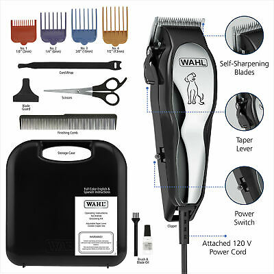 Heavy Duty Pet Professional Grooming Clipper Kit - Thick Hair Complete Set