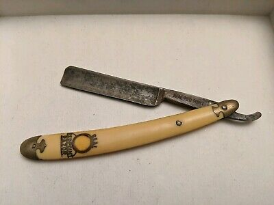 """W.r. Case & Sons Bradford, Pa """"real Red Point"""" Straight Razor Yellow"""