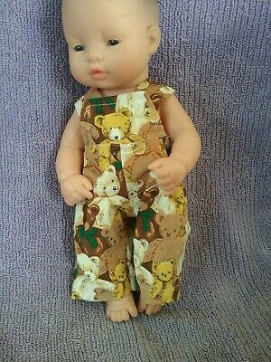 32cm MINILAND  and BABY ALIVE doll clothes  Overalls