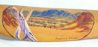 Vintage Woomera Painted by Benjamin Landara, Hermannsburg School