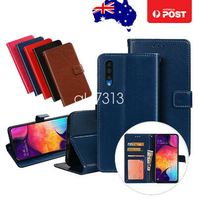 Magnetic Leather Flip Wallet Card Case Cover For Samsung Galaxy A20 A30 A50 A70