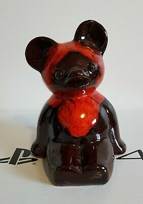 McMaster Red Clay Pottery Sitting Bear Figurine