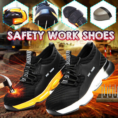 AU AtreGo Men Mesh Safety Boots Work Steel Cap Toe Industrial Shoe Anti-Puncture