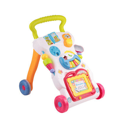 2 in 1 Baby Walker 1st Step Activity with Musical Bouncer Push Toys Ride On Car