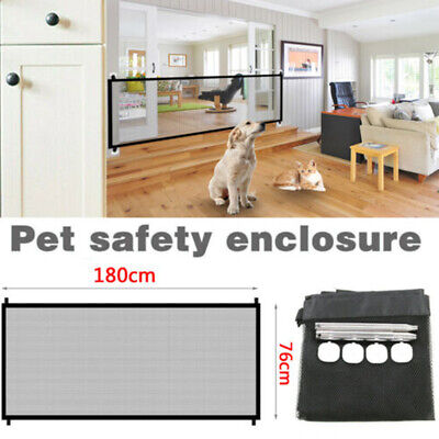 Portable Pet Dog Gate Safety Guard Folding Magic Mesh Fence Net