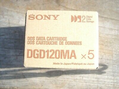 Sony DDS-2 120M 4GB Data Cartridge , Box of 5, New, DGD120MA