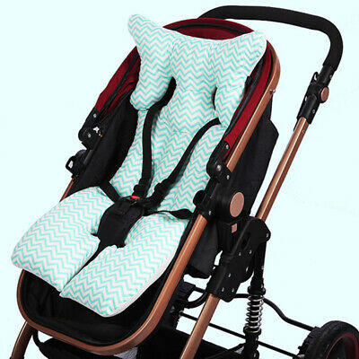 Baby Infant Stroller Mat Wavy Stripe Print Soft Thick Pushchair Cushion Filmy
