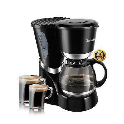 0.6L Electric Drip Coffee Maker 550W Machine 6 Cup Tea Coffee Pot Milk 220V
