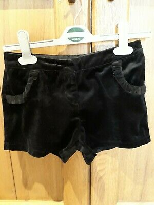 Girls NEXT Black Party Shorts Age 8