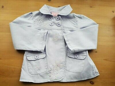Cherokee Toddler Girls Lilac Mac Embroidered Flowers Sequin Trim Age 2-3 Years