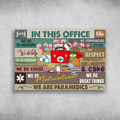 AwesApparel Pharmacist in This Office We Do Teamwork Poster or Framed Canvas