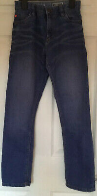 "NEXT KIDS JEANS AGE 10YRS HEIGHT 140 Cms ZIP FLY INSIDE LEG 27"" BLUE DENIM"