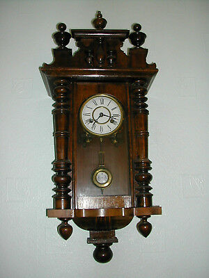 GERMAN 'Mini' Vienna Striking Wall Clock  c1890