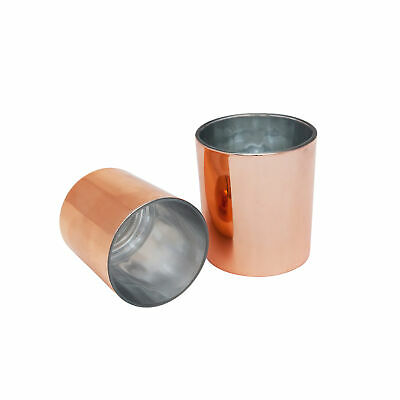 Glass Candle Jar 300ml Rose Gold x12