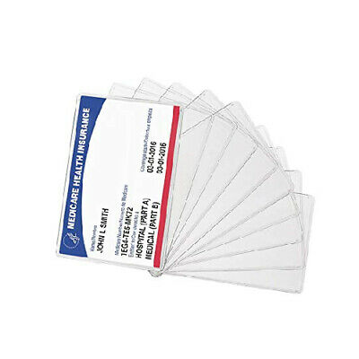 New Medicare Card Holder Protector Sleeve Clear 6 Mil (10) Medicare,