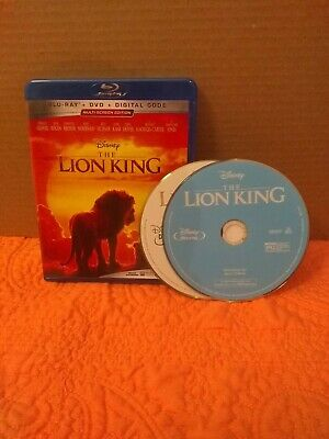 The Lion King (Blu-Ray + DVD + No Digital, 2019) New LIVE ACTION